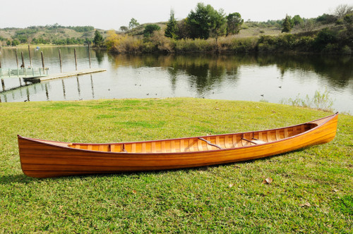 Wooden Canoe with Ribs - 16' (K033)