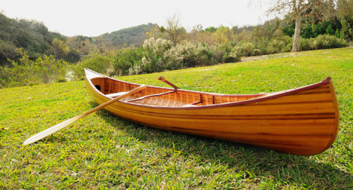 Wooden Canoe w/ Ribs and Curved Bow - 12' (K080)