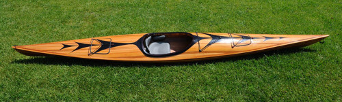 Wooden Kayak with Arrow Design - 17'