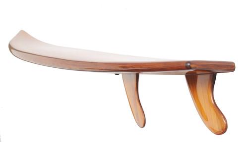 "Half Surfboard Wall Shelf with Fins- 69"" (K167)"