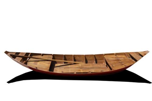 South East Asia Sampan Boat - Red Bottom - 10.5' (K207R)