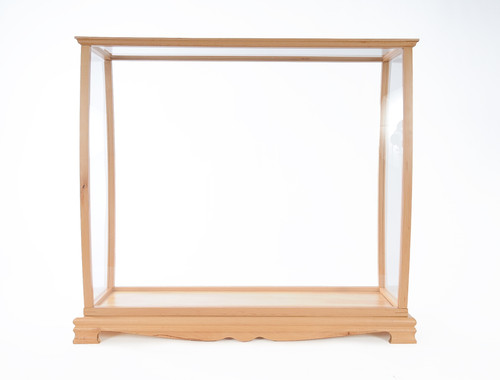 Tabletop Display Case - Fits Small to Midsize Tall Ship - Clear Finish