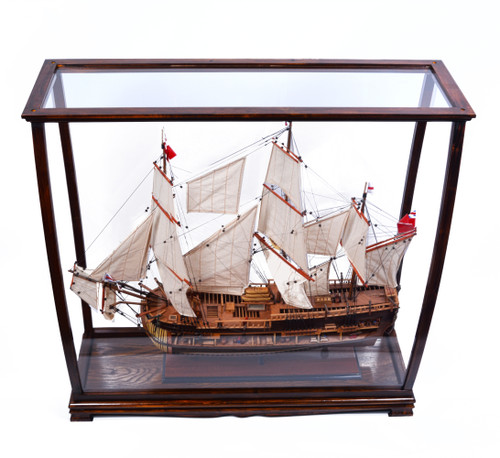 Display Case for Small to Midsize Tall Ship - Classic Brown (P095)