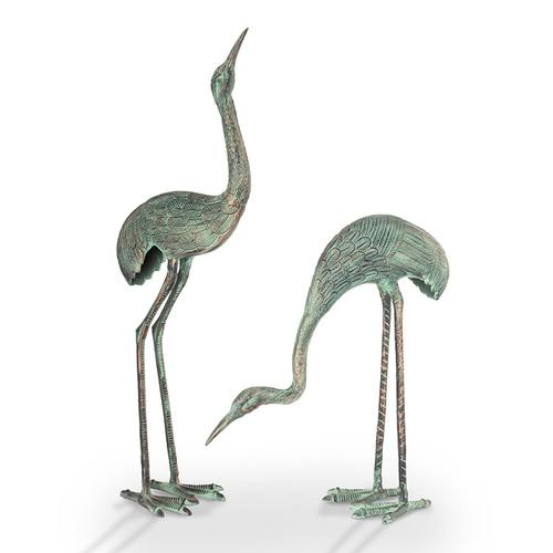 Foraging Cranes - Set of 2