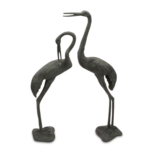 Long Necked Garden Crane Pair