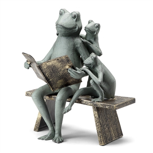 Reading Frogs Family Garden Sculpture