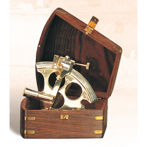 """(BW-659 5"""") 5"""" Brass Lifeboat Sextant with Box"""