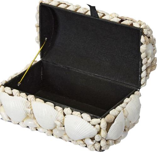 "White Seashell Treasure Box - 6"""