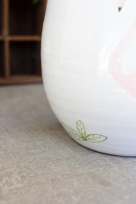 Ceramic Flamingo Vase/Planter