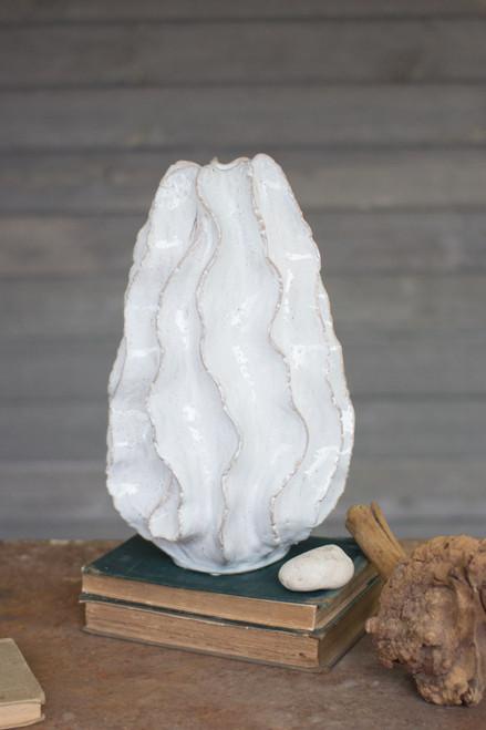 Ceramic Ruffle Vase -  Large