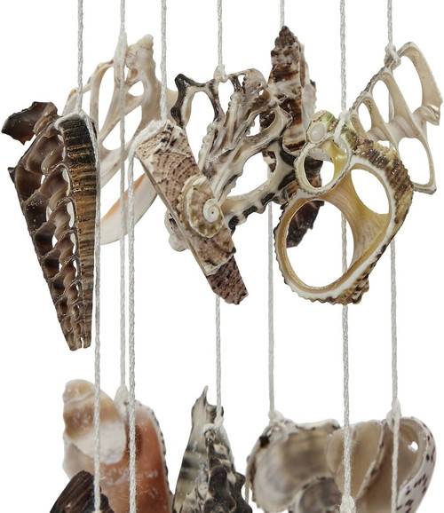 """Coconut, Sea Shells, and Urchin Spines Wind Chime - 18"""" - Set of 2"""