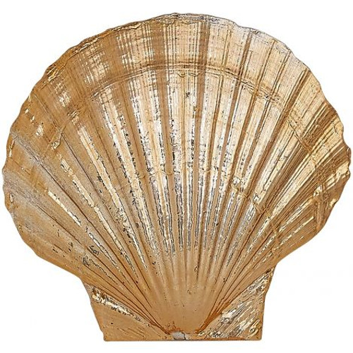 "Scallop Shell in Electro Copper - 4.5"" - Set of 3"