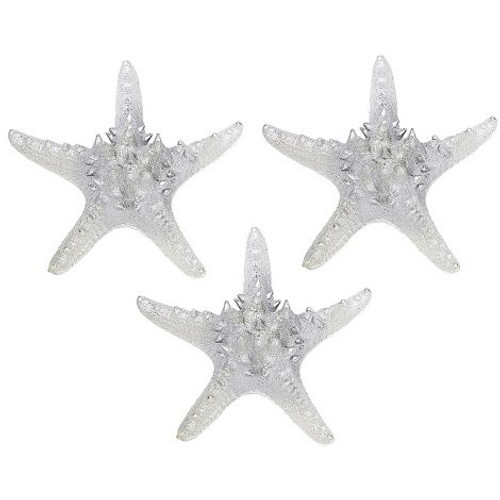 """Knobby Starfish in Electro Silver - 7"""" - Set of 3"""