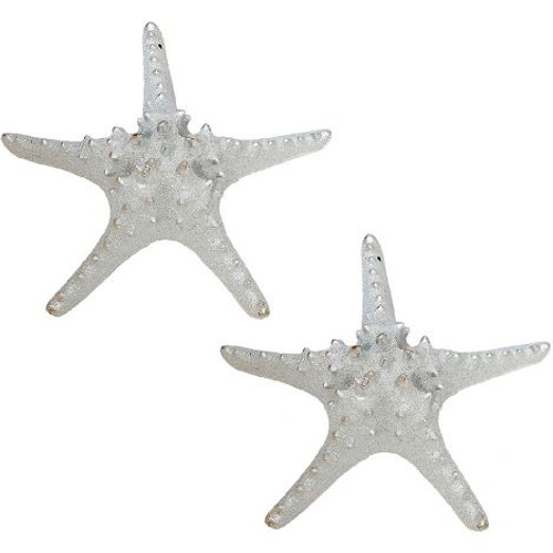 """Knobby Starfish in Electro Silver - 9.5"""" - Set of 2"""