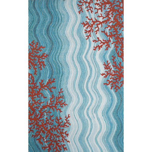Visions IV Coral Reef Water Indoor/Outdoor Rug - 6 Sizes