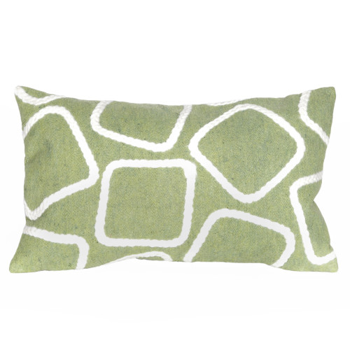 Visions  Lime Squares Indoor/Outdoor Throw Pillows - 2 Sizes Avail
