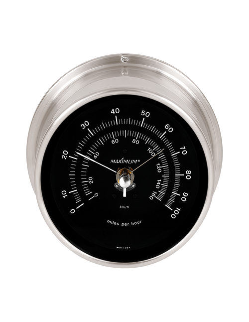 Vigilant Wind Speed Instrument - Satin Nickel Case - Black Face