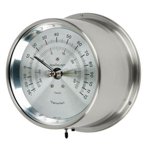 Criterion Air Temperature Reading Instrument - Satin Nickel Case - Silver Face