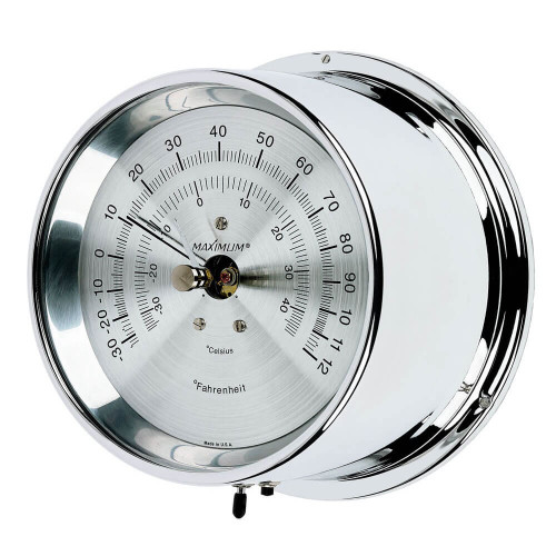 Mini-Max Air Temperature Reading Instrument - Polished Chrome Case - Silver Face