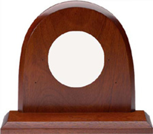 Mahogany Mantle Mount for Mystic Digital Thermometer and Barometer Instrument