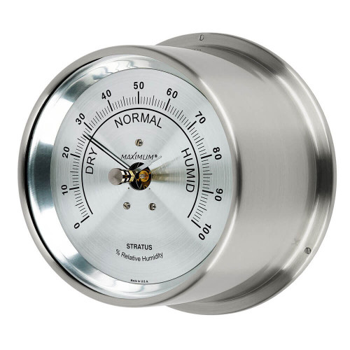 Stratus Relative Humidity Reading Instrument - Satin Nickel Case - Silver Face