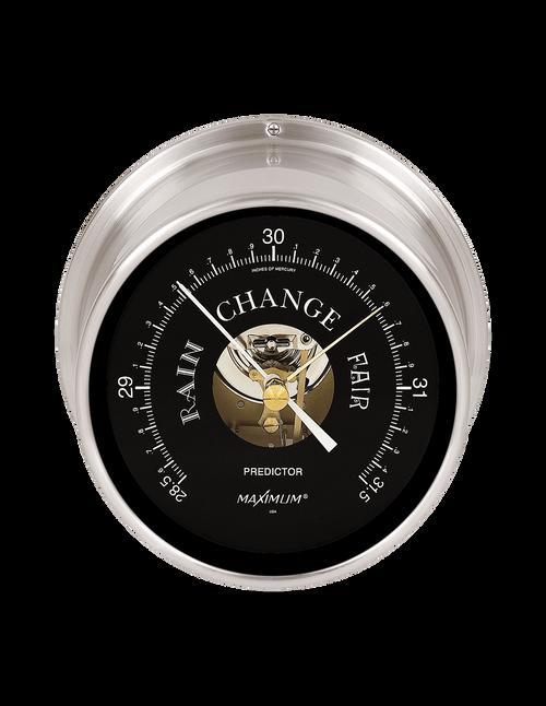 Predictor Barometer Instrument - Satin Nickel Case - Black Face