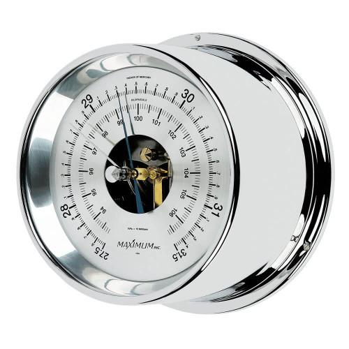 Proteus Barometer Instrument - Polished Chrome Case - Silver Face
