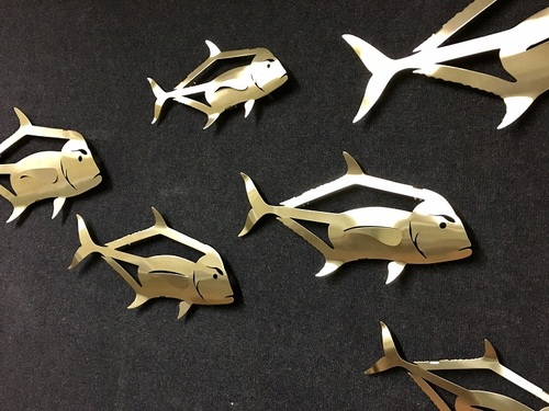 African Pompano Stainless Steel Wall Decor - Multiple Sizes