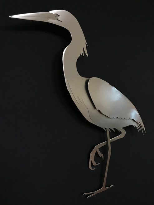 """Egret Stainless Steel Wall Decor - 19.5"""""""