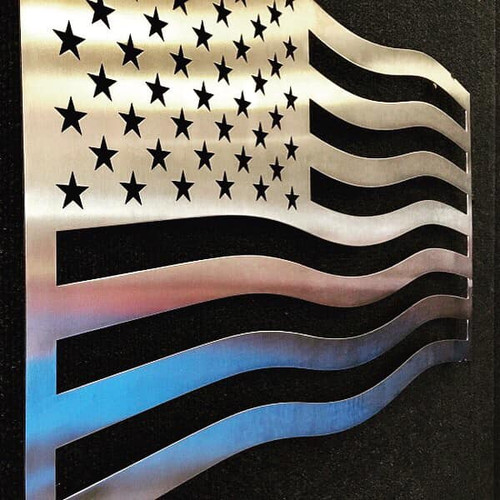 """American Flag Stainless Steel Wall Decor – 28"""""""