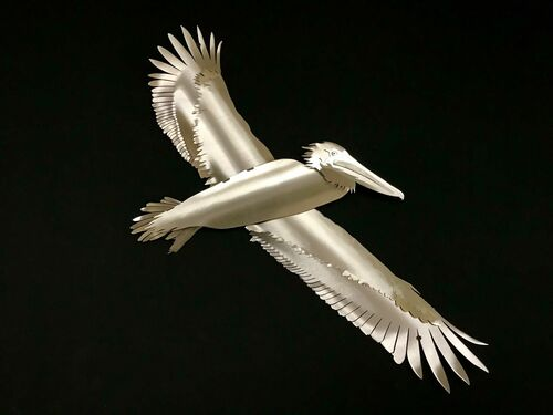 """Pelican Stainless Steel Wall Decor – 33"""""""