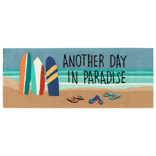 """Frontporch """"Another Day in Paradise"""" Beach Indoor/Outdoor Rug - 4 Sizes"""