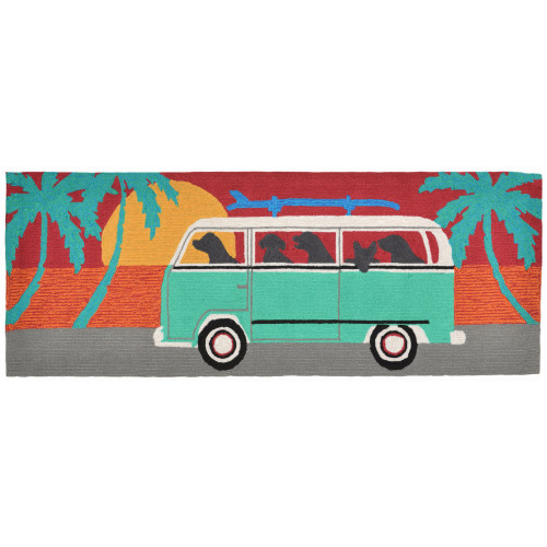Frontporch Turquoise Beach Trip Indoor/Outdoor Rug - 4 Sizes