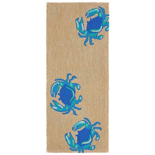 Frontporch Crabs Indoor/Outdoor Rug - Blue - 4 Sizes