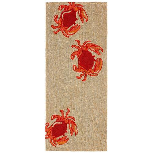 Frontporch Crabs Indoor/Outdoor Rug - Red - 4 Sizes