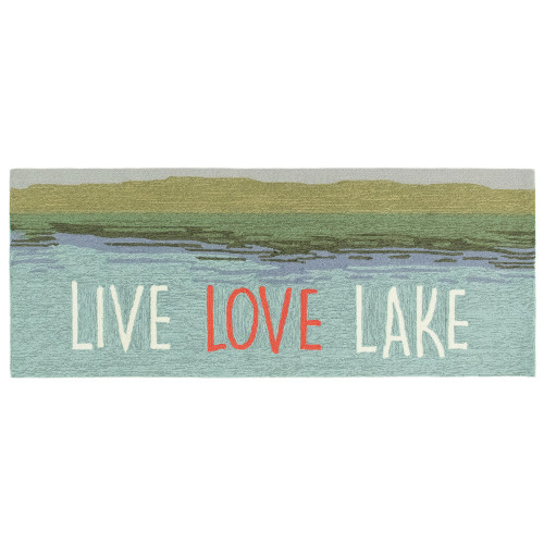 """Frontporch """"Live Love Lake"""" Indoor/Outdoor Rug - 4 Sizes"""