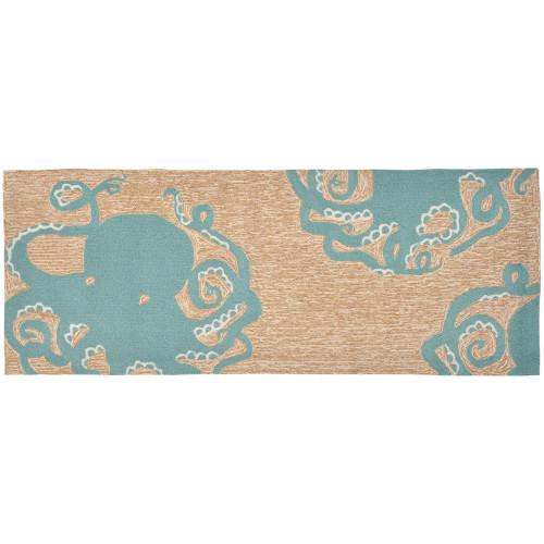 Frontporch Octopus Indoor/Outdoor Rug - Aqua - 4 Sizes