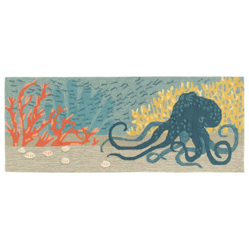 Frontporch Ocean Octopus Indoor/Outdoor Rug - 4 Sizes