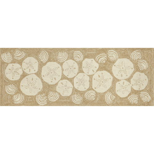 Frontporch Shell Toss Indoor/Outdoor Rug  - Natural - 4 Sizes