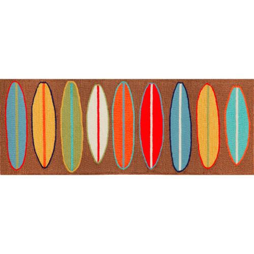 Frontporch Brown Surfboards Indoor/Outdoor Rug - 4 Sizes