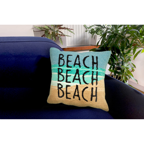 """Frontporch """"Beach"""" Indoor/Outdoor Throw Pillow - 18"""" Square"""