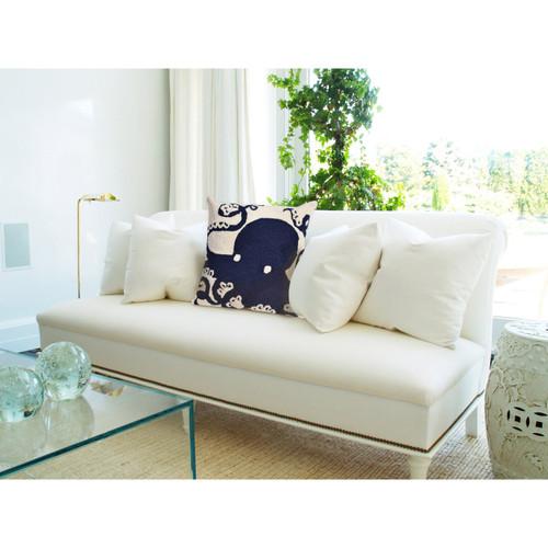 "Frontporch Octopus Indoor/Outdoor Throw Pillow - Navy - 18"" Square"