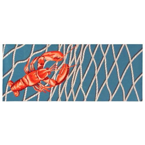 Illusions Lobster Net Indoor/Outdoor Rug - Navy - 4 Sizes