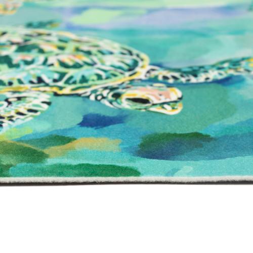 Illusions Tulum Turtles Indoor/Outdoor Rug - 4 Sizes - Pile