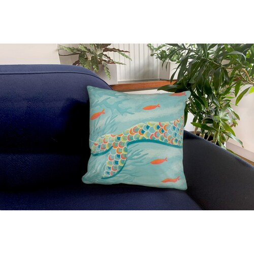 """Illusions Mermaid at Heart Indoor/Outdoor Throw Pillow - 18"""" Square"""