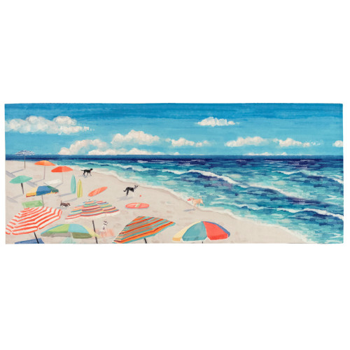 Illusions Dogs at the Beach Indoor/Outdoor Rug - 6 Sizes