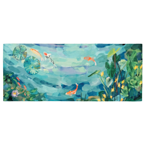 Illusions Peaceful Pond Indoor/Outdoor Rug - 6 Sizes