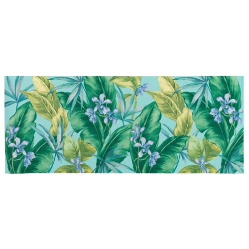 Illusions Tropical Leaf Indoor/Outdoor Rug - Aqua - 6 Sizes