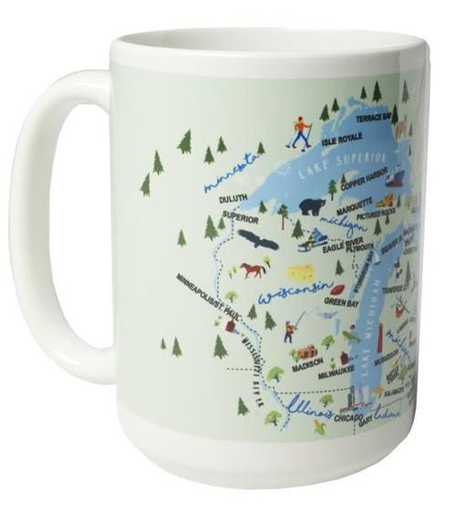 Ceramic Mug - Great Lakes - Set of 4