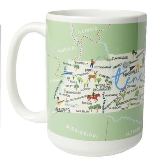Ceramic Mug - Tennessee - Set of 4
